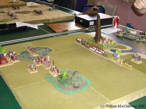 Early Crusaders versus Ptolemaic in 25mm, from the 2006 competition.