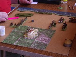 Phil Barker's Greeks face a Carthaginian invasion. 15mm