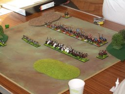 The 15mm final, Teutonic  Knights face Russians.