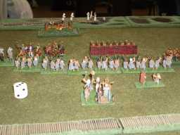 15mm Persians against European Bronze Age Barbarians. Click for more photos.